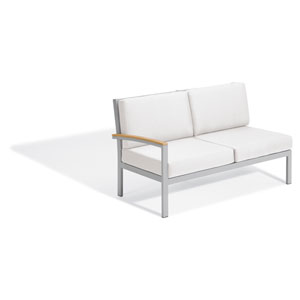 Travira Modular Lovseat - Right - Natural Tekwood - Eggshell White