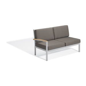 Travira Natural Tekwood Right Modular Loveseat