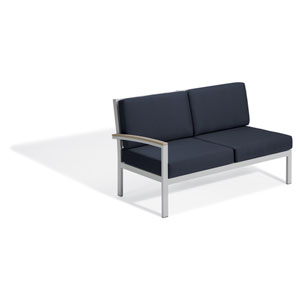 Travira Modular Lovseat - Right - Vintage Tekwood - Midnight Blue