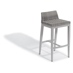 Argento Bar Stool - Argento Resin Wicker - Powder Coated Aluminum Legs