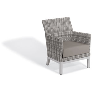 Argento Club Chair - Argento Resin Wicker - Powder Coated Aluminum Legs - Stone Polyester Cushion