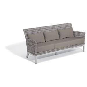 Argento Sofa - Argento Resin Wicker - Powder Coated Aluminum Legs - Stone Polyester Cushion
