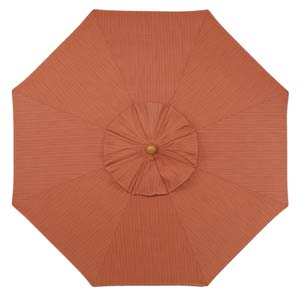 6-Ft. Dupione Papaya Octagonal Sunbrella Market Umbrella