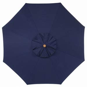 9-Ft. Navy Octagonal Sunbrella Market Umbrella