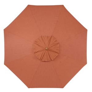 9-Ft. Dupione Papaya Octagonal Sunbrella Market Umbrella