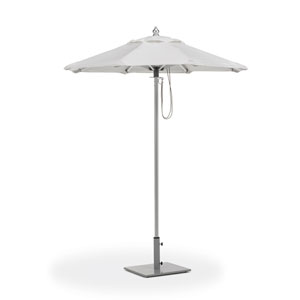 6 Ft. Octagon Sunbrella Market Natural Umbrella with Brushed Aluminum Frame