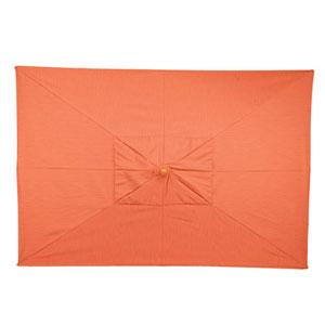 10-Ft. Dupione Papaya Rectangular Market Umbrella