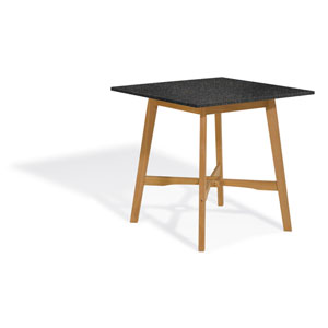 Wexford 42-inch Bar Table - Natural Shorea - Lite-Core Granite Charcoal Top