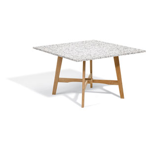 Wexford 48-inch Dining Table - Natural Shorea - Lite-Core Granite Ash Top