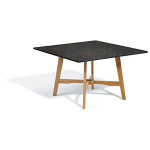 Wexford 48-inch Dining Table - Natural Shorea - Lite-Core Granite Charcoal Top