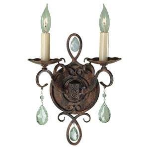 Hampshire Bronze Two-Light Wall Sconce