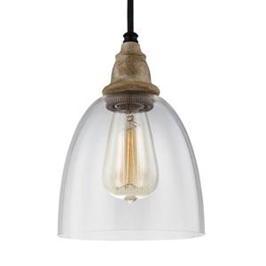Madison Light Wood Six-Inch One-Light Mini Pendant
