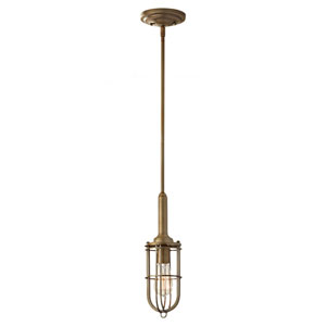 Caleb Antique Brass One-Light Mini Pendant