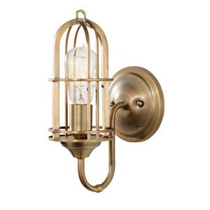 Caleb Antique Brass One-Light Bath Sconce