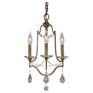 Chadwell Bronze Three-Light Mini Chandelier