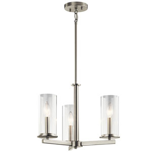 Charlton Brushed Nickel 18-Inch Three-Light Chandelier
