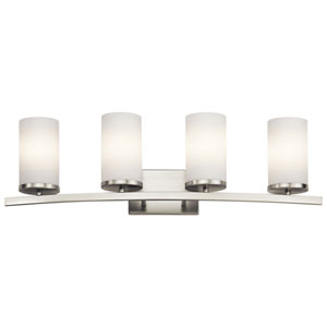 Charlton Brushed Nickel 31-Inch Four-Arm Bath Light
