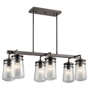 AspenHill Architectural Bronze 17-Inch Six-Light Outdoor Pendant