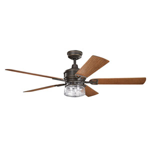 AspenHill Patio Olde Bronze 60-Inch Outdoor Ceiling Fan with Light Kit