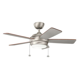 Gladstone Brushed Nickel 42-Inch LED Ceiling Fan with Light Kit