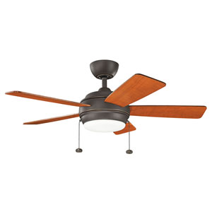 Gladstone Olde Bronze 42-Inch LED Ceiling Fan with Light Kit