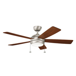 Gladstone Brushed Nickel 52-Inch LED Ceiling Fan with Light Kit