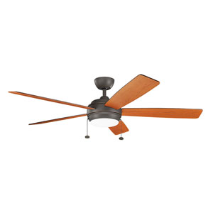 Gladstone Olde Bronze 60-Inch LED Ceiling Fan with Light Kit