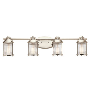 Pavilion Polished Nickel Four-Light Bath Sconce