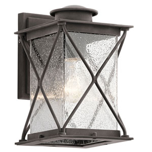 Lincoln Weathered Zinc 6-Inch LED One-Light Outdoor Wall Sconce