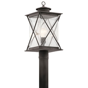 Lincoln Weathered Zinc One-Light Outdoor Post Light