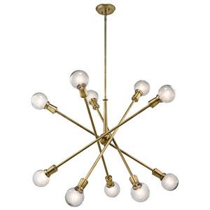 Sparrow Natural Brass Ten-Light Starburst Pendant