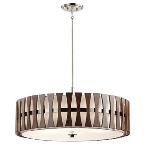 Edgemont Auburn Stained Five-Light Pendant