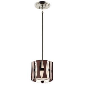 Edgemont Auburn Stained One-Light Mini Pendant