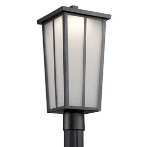 Riverside Textured Black One-Light Outdoor LED Post Lantern