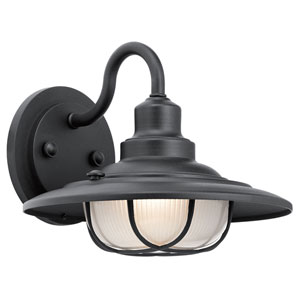 Broadwick Textured Black 11-Inch One-Light Outdoor Wall Mount
