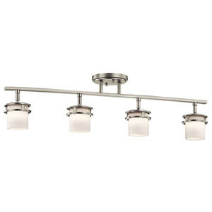 Somerville Brushed Nickel Four-Light Rail Light