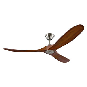 Turner 60-Inch Brushed Steel Ceiling Fan
