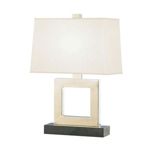 Adams Antique Silver 21-Inch One Light Table Lamp