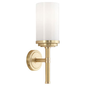 Alma Brushed Brass And Natural Brass One-Light Bath Sconce