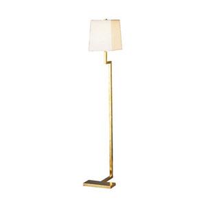 Adams Natural Brass One-Light Floor Lamp