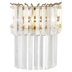 Fulham Brass Two-Light Sconce