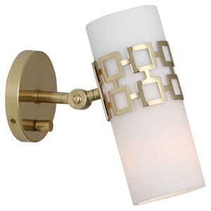 Prescott Antique Brass One-Light Sconce