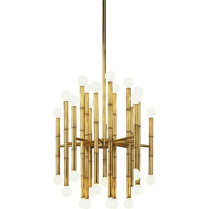 Statement Antique Brass 30-Light Chandelier