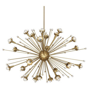 Celestial Antique Brass 48-Inch 24-Light Chandelier