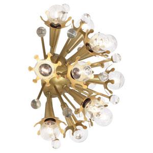 Celestial Antique Brass Twelve-Light Sconce