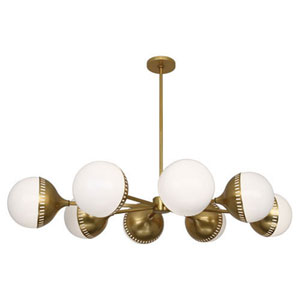 Tribeca Antique Brass Eight-Light Chandelier