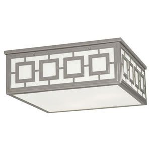Prescott Polished Nickel Three-Light Flush Mount
