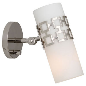 Prescott Polished Nickel One-Light Sconce