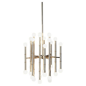 Statement Polished Nickel 30-Light Chandelier