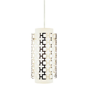 Prescott Polished Nickel One-Light Pendant